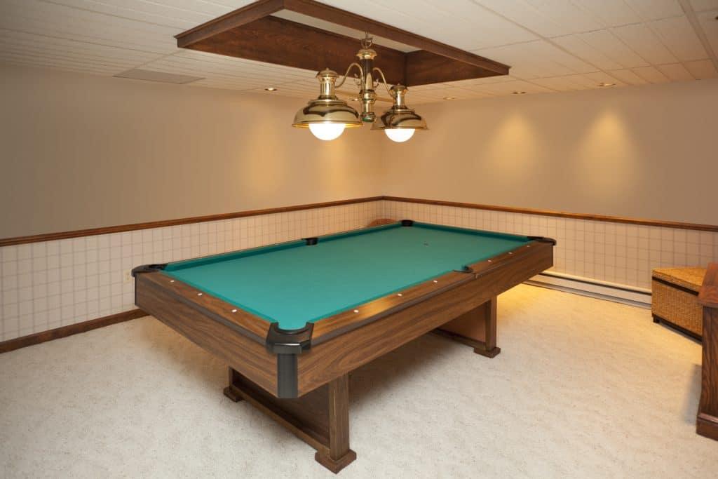 Billiards Room With Custom Lighting